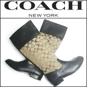 COACH Chrissi Monogram & Leather Boots!